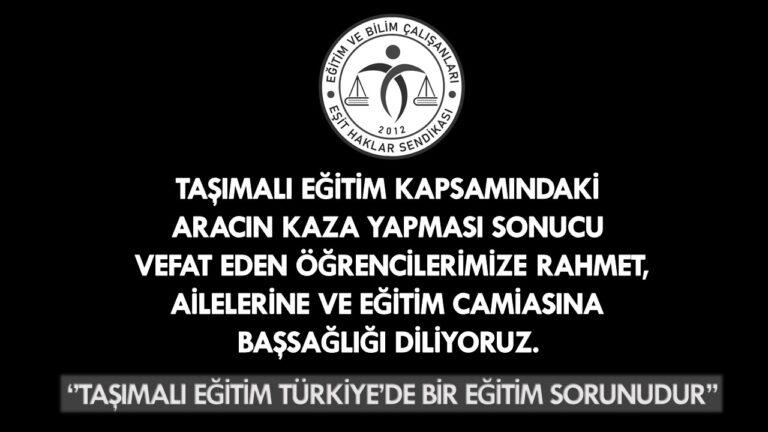 Taşımalı Eğitim Türkiye'de Bir Eğitim Sorunudur